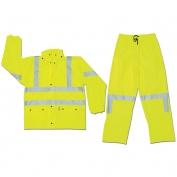 River City 5182 Luminator Class 3 Limited Flammability Rain Suit - Yellow/Lime