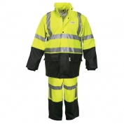 River City 5182S Luminator Class 3 Limited Flammability 2 Piece Rain Suit - Lime/Black