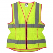 River City LVCL2ML Class 2 Ladies Safety Vest - Yellow/Lime