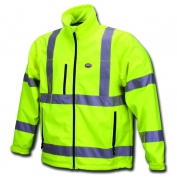 River City PGCL3L Class 3 Soft Shell Fleece Safety Jacket - Yellow/Lime