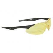 Radians Rock Safety Glasses - Black Frame - Amber Lens