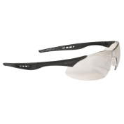 Radians Rock Safety Glasses - Black Frame - Indoor/Outdoor Mirror Lens
