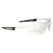 Radians Rock Safety Glasses - White Frame - Clear Anti-Fog Lens