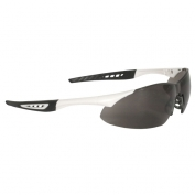 Radians Rock Safety Glasses - White Frame - Smoke Anti-Fog Lens