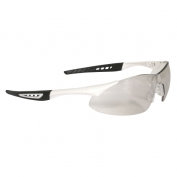 Radians Rock Safety Glasses - White Frame - Indoor/Outdoor Mirror Lens