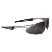 Radians Rock Safety Glasses - Silver Frame - Smoke Anti-Fog Lens