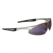 Radians Rock Safety Glasses - Silver Frame - Blue Mirror Lens