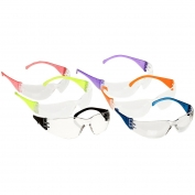 Pyramex S4110SMP Intruder Safety Glasses - Clear Lens - Multi Color 12 Pack