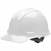 Bullard S51WHR Standard Hard Hat - Ratchet Suspension - White