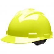 Bullard S61HYR Standard Hard Hat - Ratchet Suspension - Hi-Viz Yellow