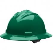 Bullard S71FGR Standard Full Brim Hard Hat - Ratchet Suspension - Forest Green
