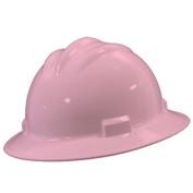 Bullard S71LPR Standard Full Brim Hard Hat - Ratchet Suspension - Light Pink