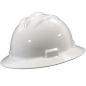 Bullard S71WHR Standard Full Brim Hard Hat - Ratchet Suspension - White