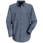 Red Kap Men\\\'s Wrinkle Resistant Cotton Work Shirt - Long Sleeve - Postman Blue