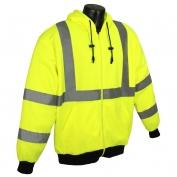 Radians SJ01-3ZGS Class 3 Long Sleeve Hooded Sweatshirt - Yellow/Lime