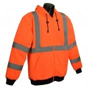 Radians SJ01-3ZOS Class 3 Long Sleeve Hooded Sweatshirt - Orange