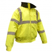 Radians SJ11Q-3ZGS Class 3 Bomber Jacket with Quilted Built-In Liner - Yellow/Lime