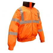 Radians SJ11Q-3ZOS Class 3 Bomber Jacket with Quilted Built-In Liner - Orange