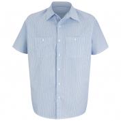 Red Kap Men\\\'s Industrial Stripe Mock Oxford Work Shirt - Short Sleeve