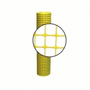 Resinet Square Mesh Fence 4x100 ft - Yellow