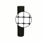 Resinet Square Mesh Fence 4x50 ft - Black
