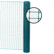 Resinet Square Mesh Fence 4x50 ft - Green