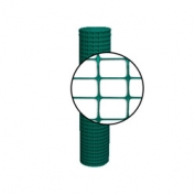 Resinet Lightweight Square Mesh Barrier Fence - 4 ft x 100 ft - Green