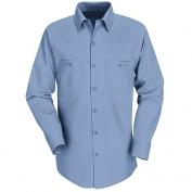 Red Kap Men\\\'s Industrial Work Shirt - Long Sleeve - Light Blue