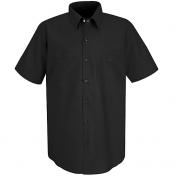 Red Kap Men\\\'s Industrial Work Shirt - Short Sleeve - Black