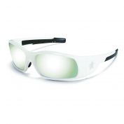 Crews Swagger Safety Glasses - White Frame - Silver Mirror Lens