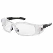 Crews Swagger Safety Glasses - Clear Frame - Clear Anti-Fog Lens