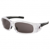 Crews Swagger Safety Glasses - Clear Frame - Gray Anti-Fog Lens