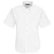 Red Kap Women\\\'s Executive Oxford Dress Shirt - Short Sleeve - White
