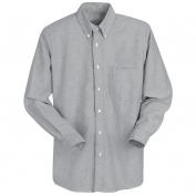 Red Kap Men\\\'s Executive Oxford Dress Shirt - Long Sleeve - Grey
