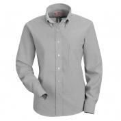 Red Kap Women\\\'s Executive Oxford Dress Shirt - Long Sleeve - Grey