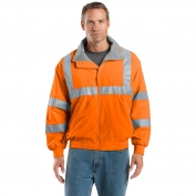 Port Authority SRJ754 Enhanced Visibility Challenger Jacket with Reflective Taping - Safety Orange/Reflective
