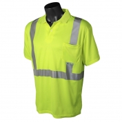 Radians ST12-2PGS Class 2 Mesh Safety Polo - Yellow/Lime