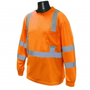 Radians ST21-3POS Class 3 Mesh Safety Shirt - Orange