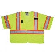 River City SURVCL3L Class 3 Breakaway Surveyor Safety Vest - Yellow/Lime