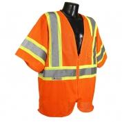 Radians SV22-3ZOM Economy Class 3 Two-Tone Safety Vest - Orange