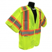 Radians SV24-3GM Breakaway Class 3 Surveyor Safety Vest - Yellow/Lime