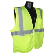 Radians SV25-2ZGM Economy Class 2 Self-Extinguishing Safety Vest - Yellow/Lime