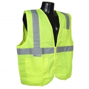 Radians SV2ZGS Economy Class 2 Solid Safety Vest with Zipper - Yellow/Lime