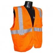 Radians SV2ZOM Economy Class 2 Mesh Safety Vest with Zipper - Orange