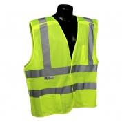 Radians SV45-2ZGM Class 2 Self-Extinguishing Breakaway Safety Vest - Yellow/Lime