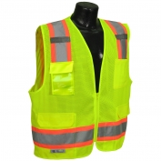 Radians SV6-2ZGM Class 2 Two-Tone Surveyor Safety Vest - Yellow/Lime