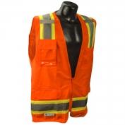 Radians SV6O Class 2 Two-Tone Surveyor Safety Vest - Orange