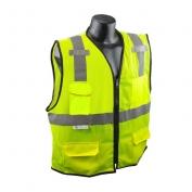 Radians SV7E-2ZGM Economy Class 2 Surveyor Safety Vest - Yellow/Lime