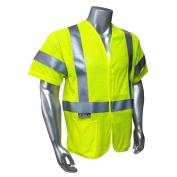 Radians SV97-3VGMFR Premium Mesh Modacrylic FR Class 3 Safety Vest - Yellow/Lime