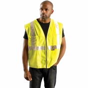 OK-1 SVL Class 2 Premium Solid Gloss Vest - Yellow/Lime